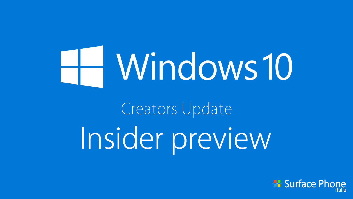 Windows 10 Creators Update: disponibile la build 15014