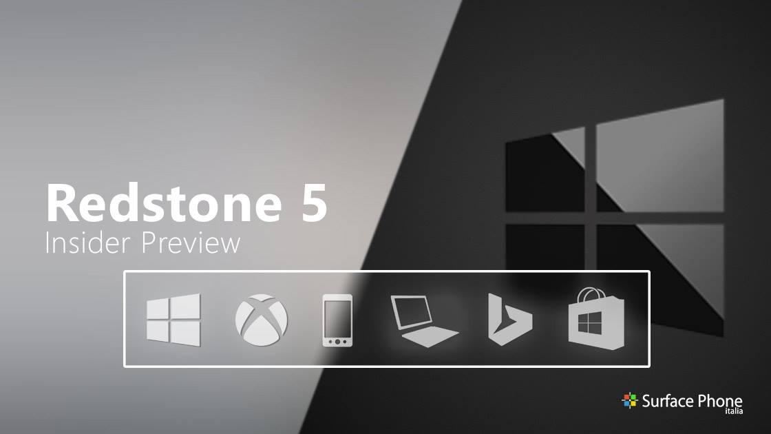 Windows 10 Redstone 5: disponibile la build 17692