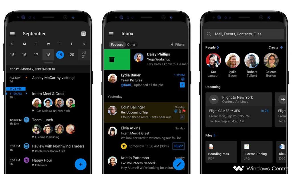 Outlook Mobile: si avvicina il rilascio del tema scuro